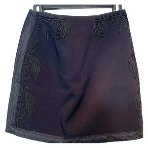 H&M Black with Embroidery Mini Skirt